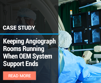 keeping angiograph systems running when OEM systems support ends