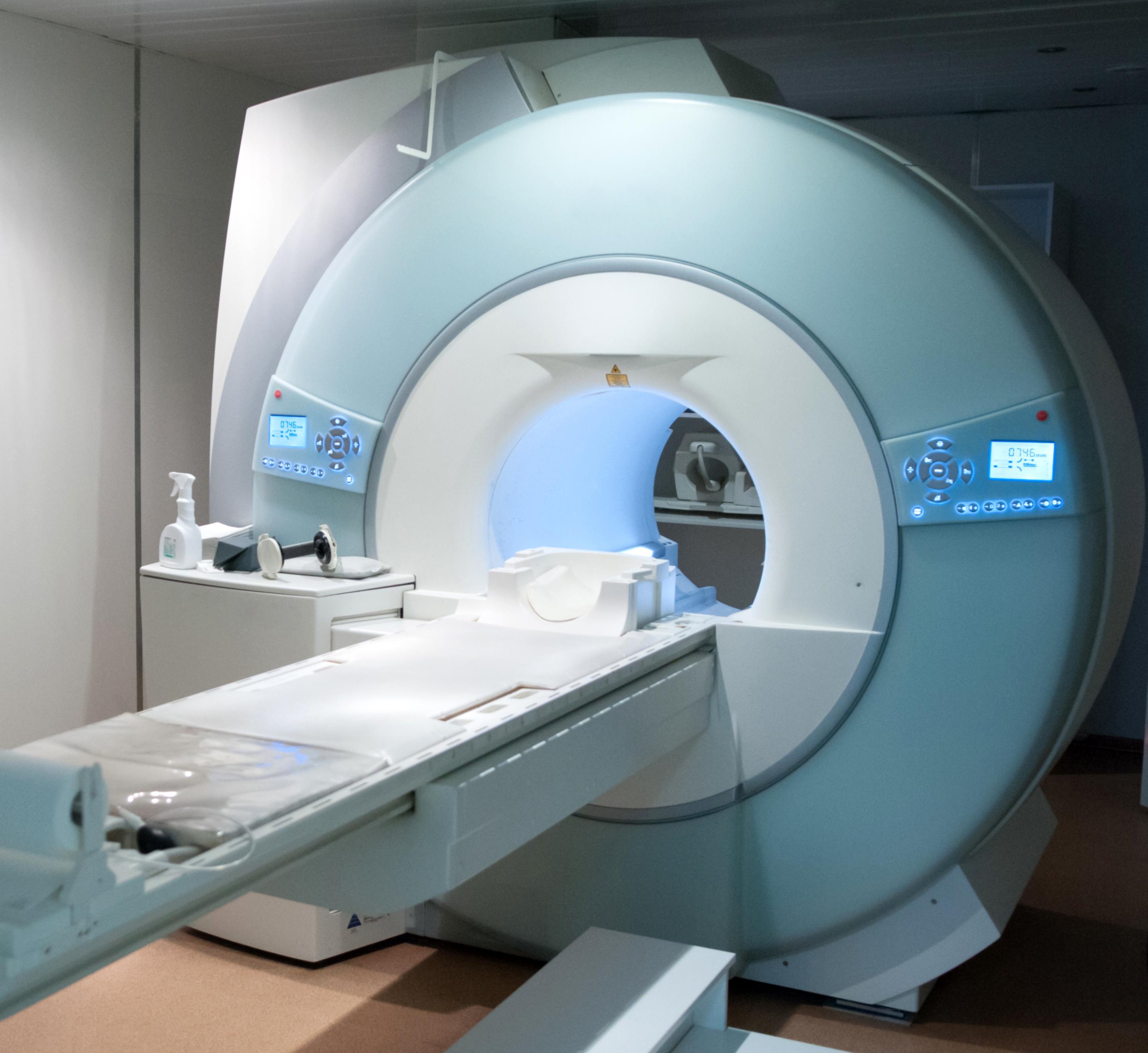 MRI Machine. Medical equipment in a hospital.